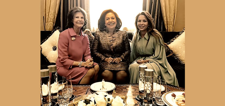 HM Queen Silvia of Sweden, HRH Crown Princess Katherine and HRH Princess Haya of Jordan