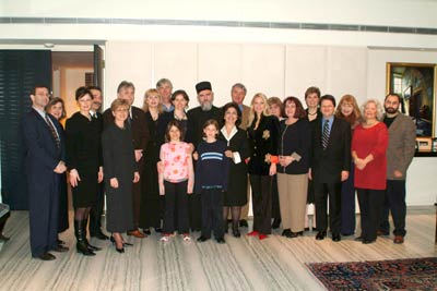"HRH Crown Princess Katherine, Mis. Marina Arsenijevic and His Grace Bishop of Canada Georgije with the organizers of the humanitarian concert ""Princess and the Prodigy"" in Toronto"