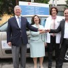 Crown Prince and Crown Princess deliver car tо General Hospital Uzice and aid to Shelter in Kragujevac